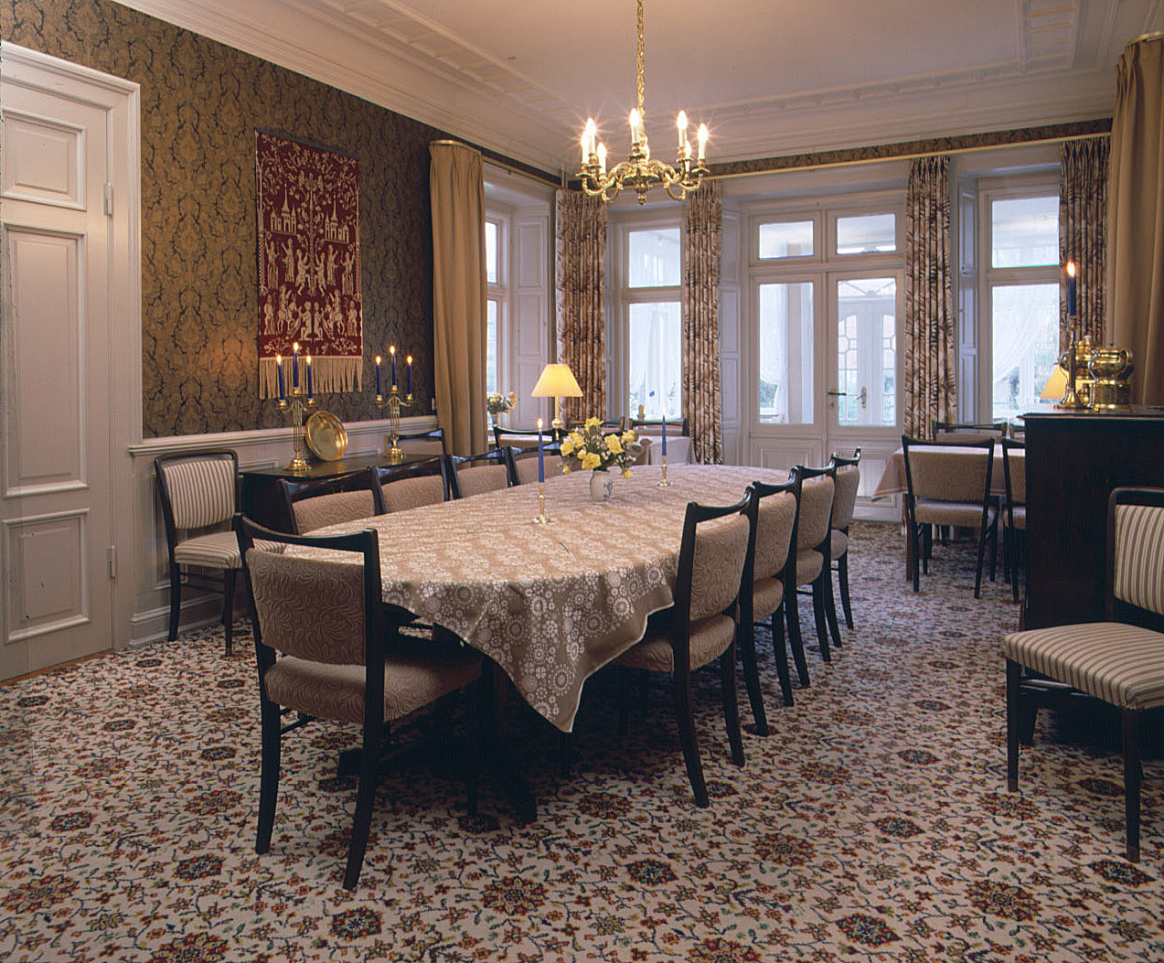 Big dining room at hotel Krogen